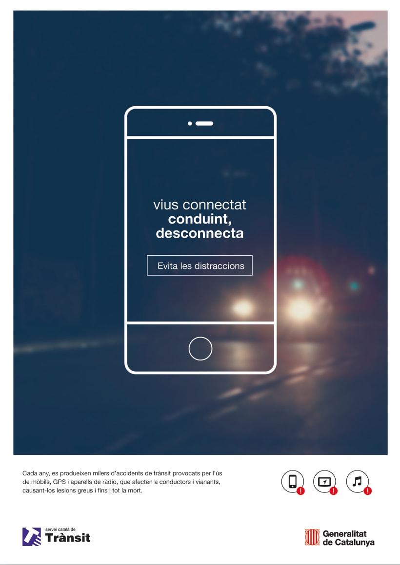 Conduint, desconnecta. 0