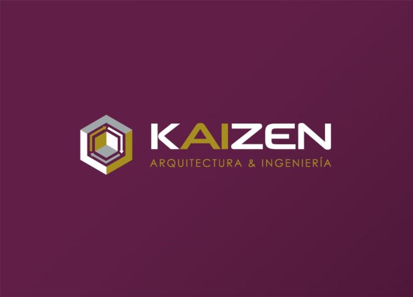 Diseño de logotipo y papelería para Kaizen, una empresa que ofrece servicios de arquitectura e ingeniería. 0