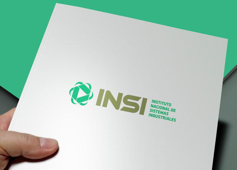 Diseño de identidad corporativa para INSI: Instituto Nacional de Sistemas Industriales. Una empresa formada por un equipo de consultores dedicados al mejoramiento de los procesos operativos y administrativos de las empresas. -1