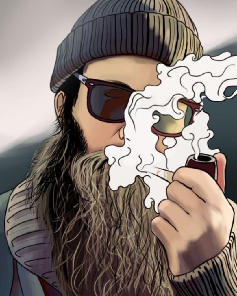 Serie de dibujos de avatares de Twitter 2