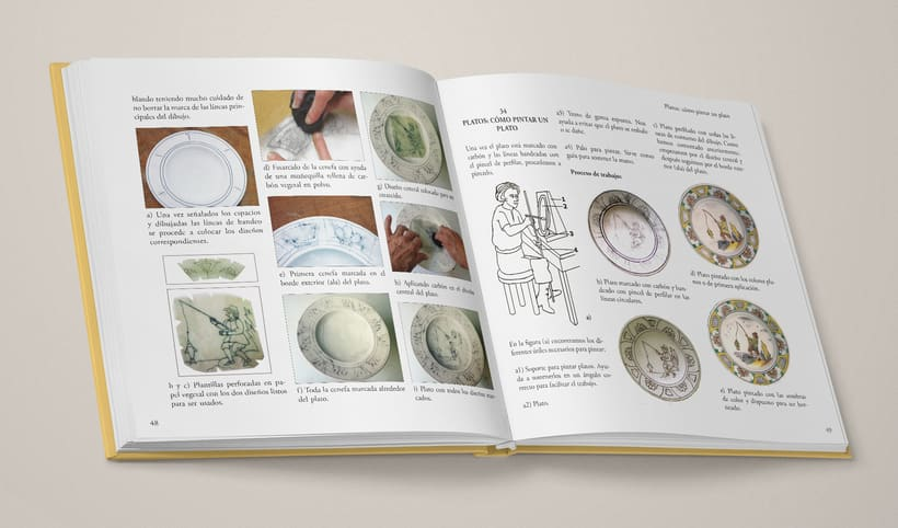"""Diseño del interior de """"La técnica mayólica"""" de Susan Mussi 2"""