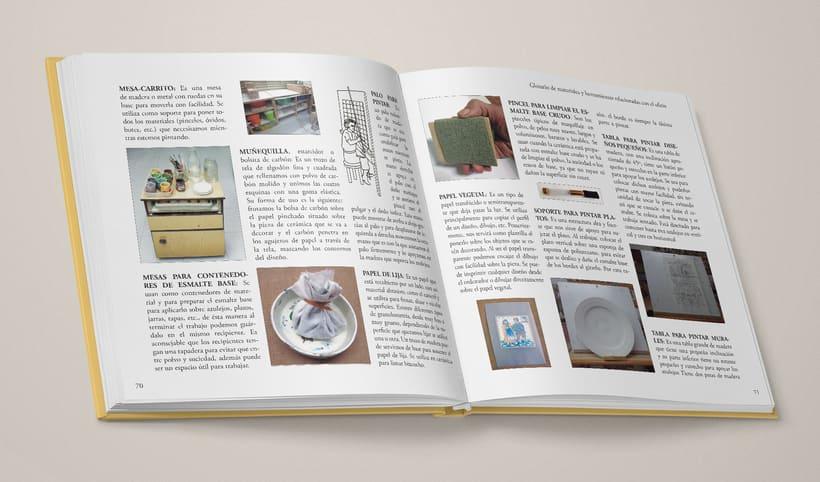 """Diseño del interior de """"La técnica mayólica"""" de Susan Mussi 4"""