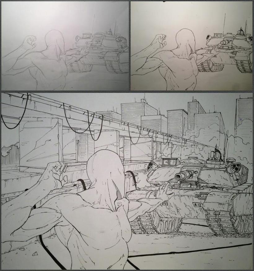 Serie de dibujos de superhéroes 1