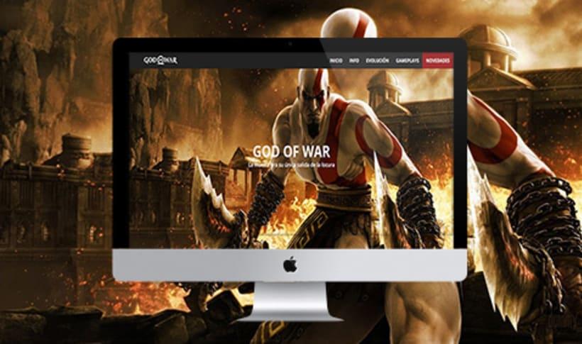 Diseño web - Tributo God of war 0