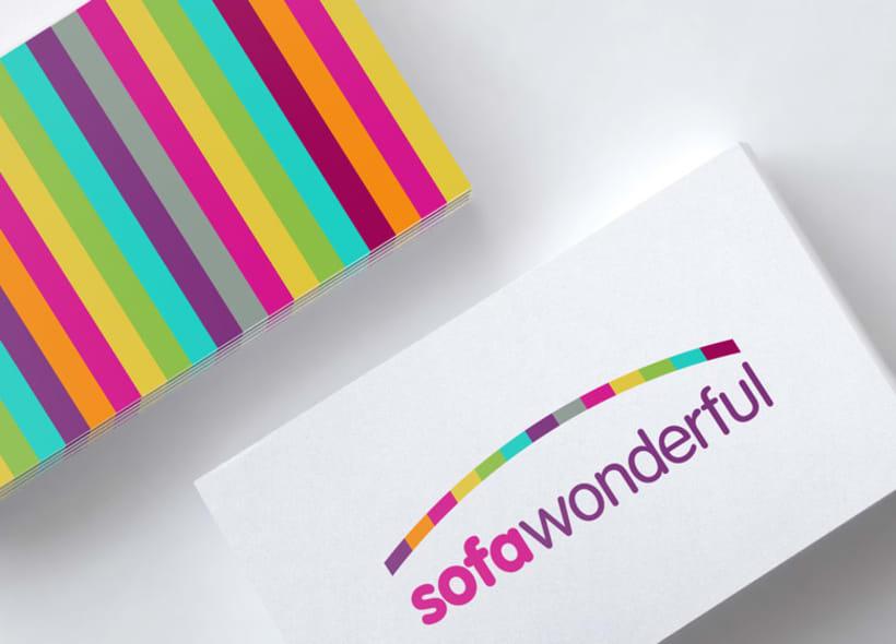 Diseño de logo para sofawonderful.com, una tienda online que ofrece una amplia gama de fundas de sofá, chaise longue, sillones, etc... -1