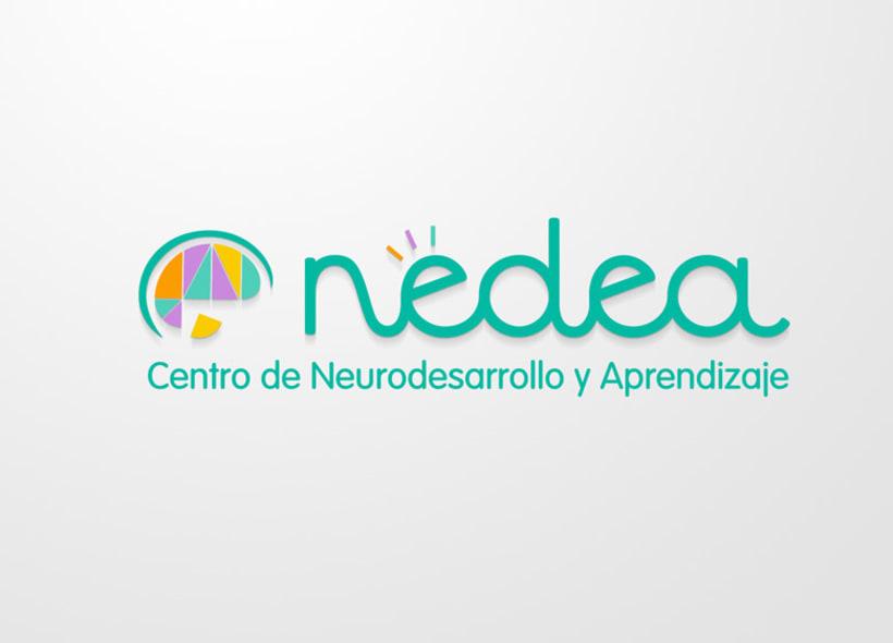 Diseño de identidad corporativa para NEDEA (Centro de Neurodesarrollo y Aprendizaje). Se trata de un centro ubicado en Granada y especializado en las áreas de neuropsicología, pedagogía, logopedia, terapia ocupacional y atención temprana. 0