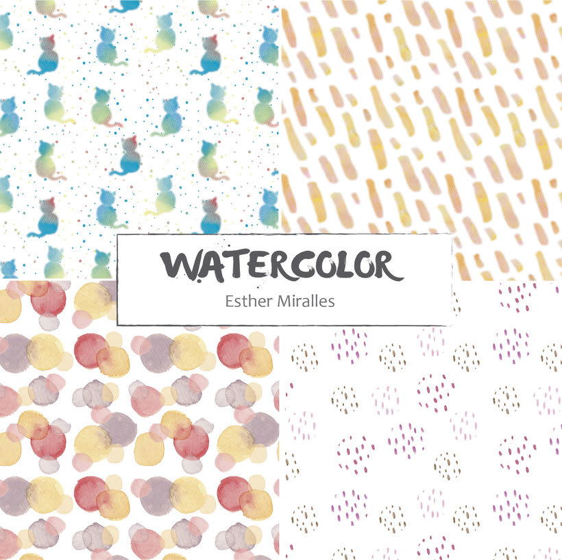 Watercolor patterns 1