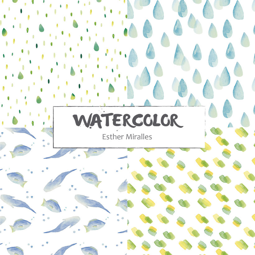 Watercolor patterns 0