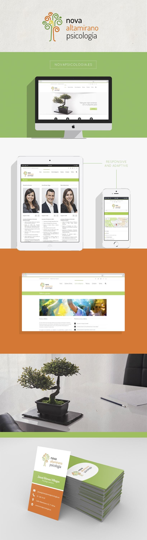 Nova Psicología - Diseño web y papelería 1