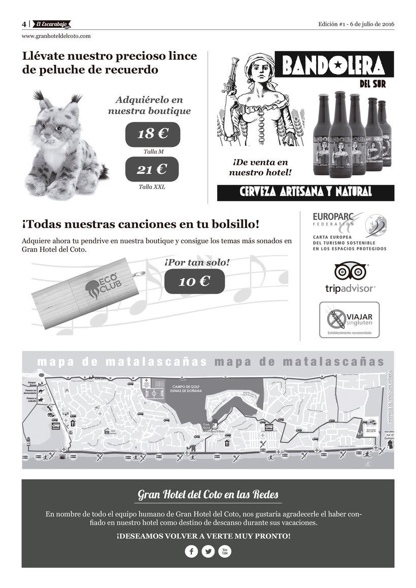 """Diseño editorial """"El Escarabajo"""" (Gran Hotel del Coto) 4"""
