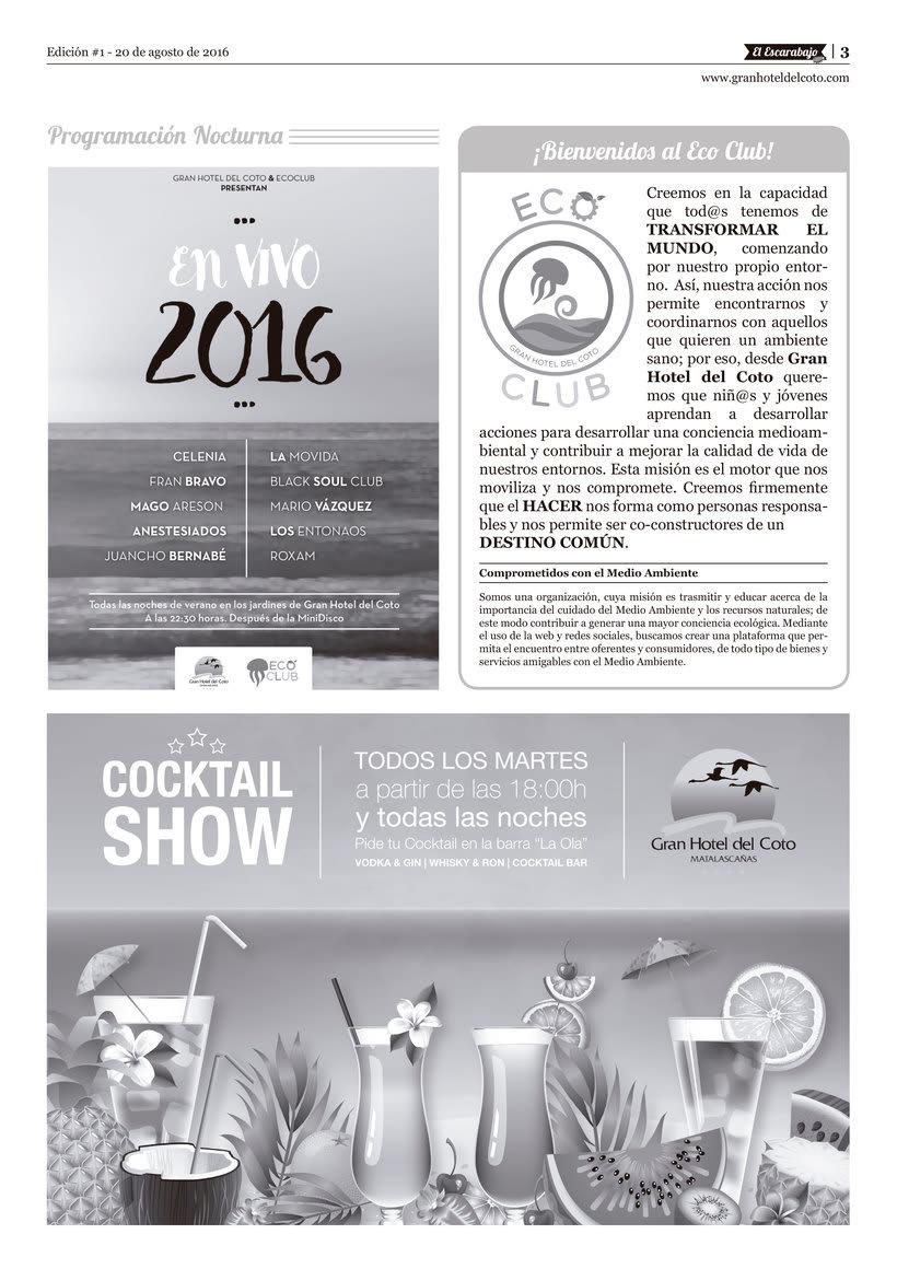 """Diseño editorial """"El Escarabajo"""" (Gran Hotel del Coto) 3"""