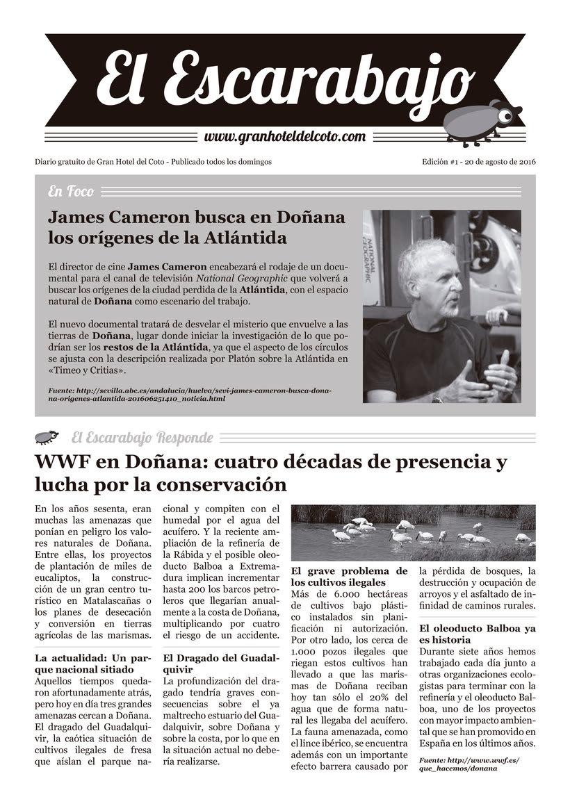 """Diseño editorial """"El Escarabajo"""" (Gran Hotel del Coto) 1"""