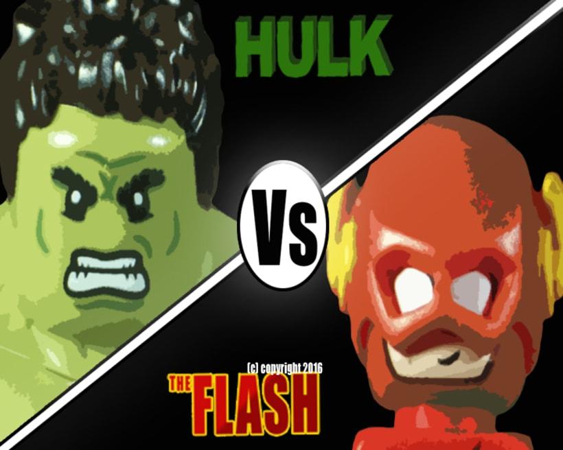 Hulk vs Flash The Race -1