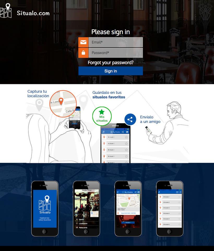 """Diseño interfaz de aplicación móvil """"Situalo"""" 1"""