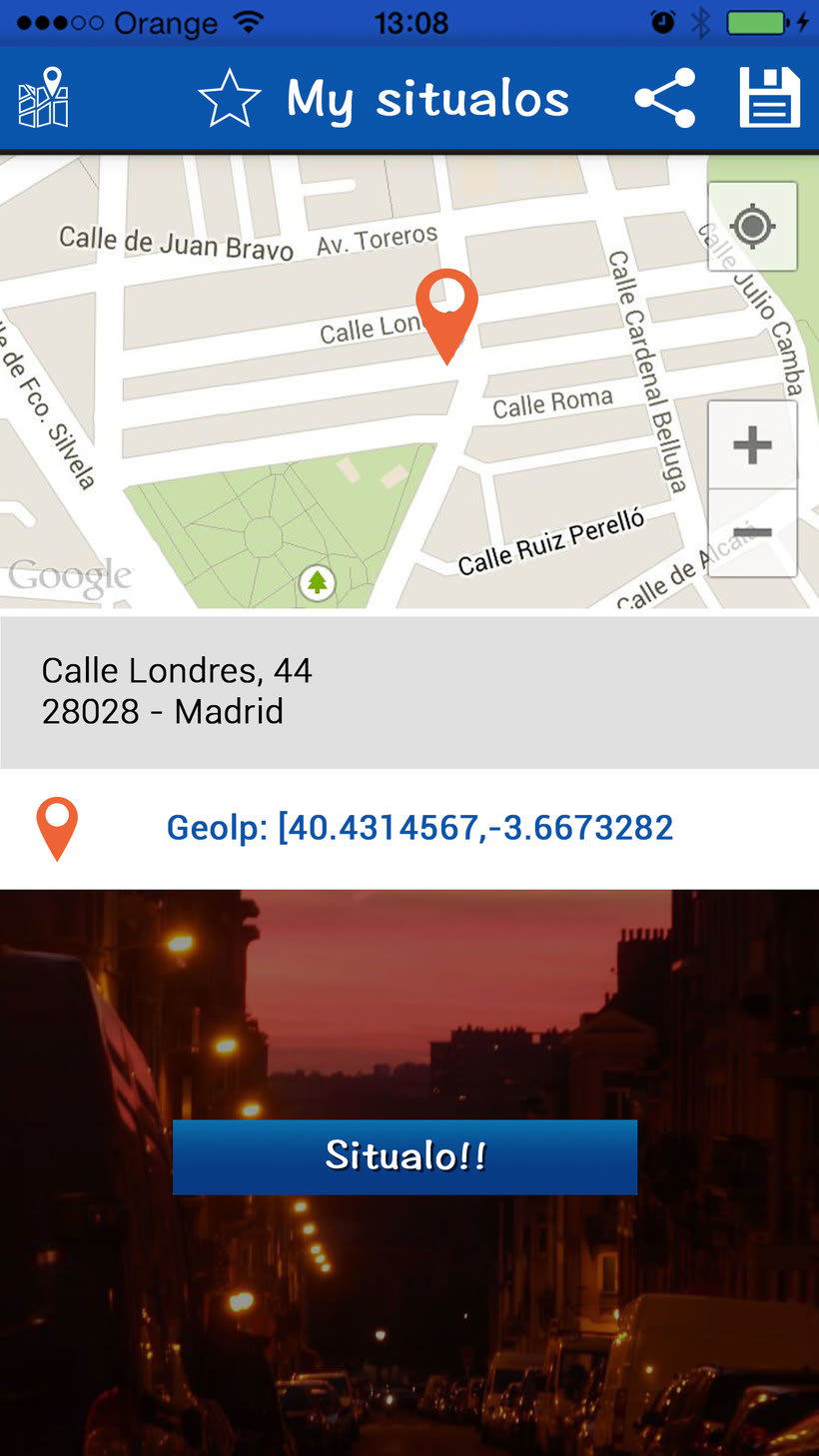 """Diseño interfaz de aplicación móvil """"Situalo"""" 3"""