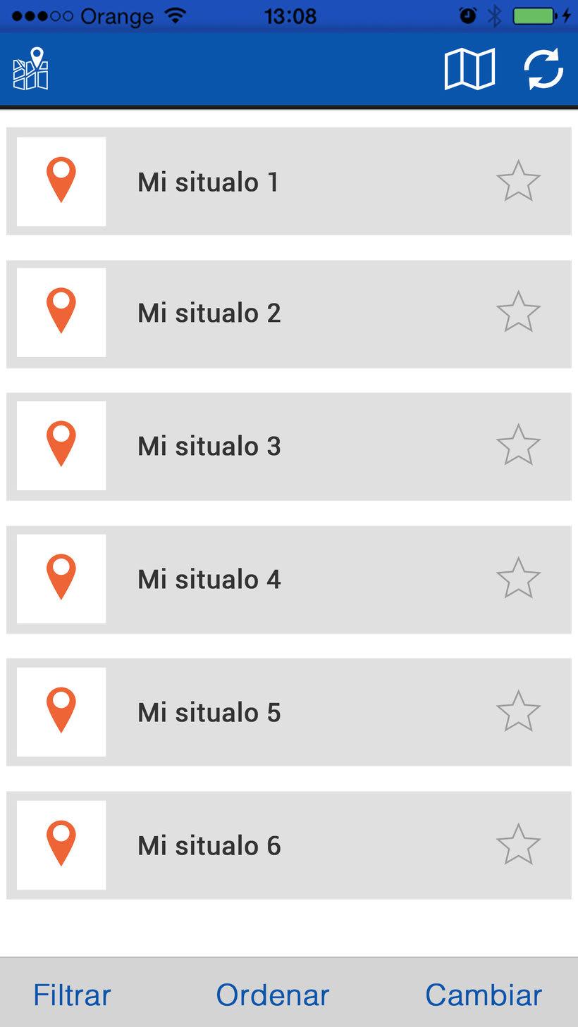 """Diseño interfaz de aplicación móvil """"Situalo"""" 4"""