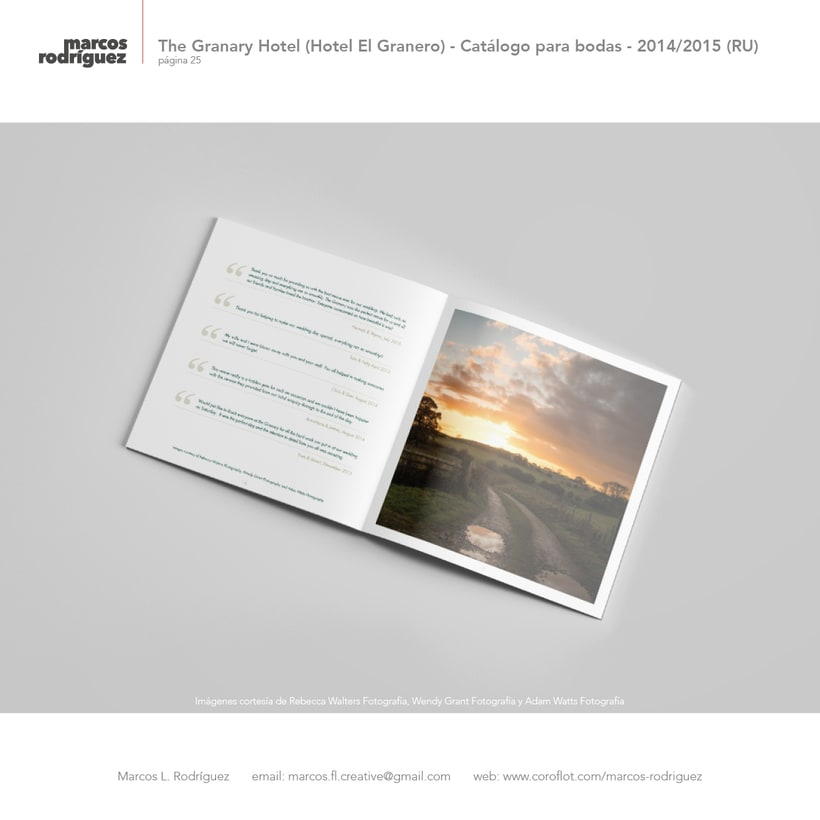 The Granary Hotel (Hotel El Granero) - Catálogo para bodas - 2014/2015 (Reino Unido) 10