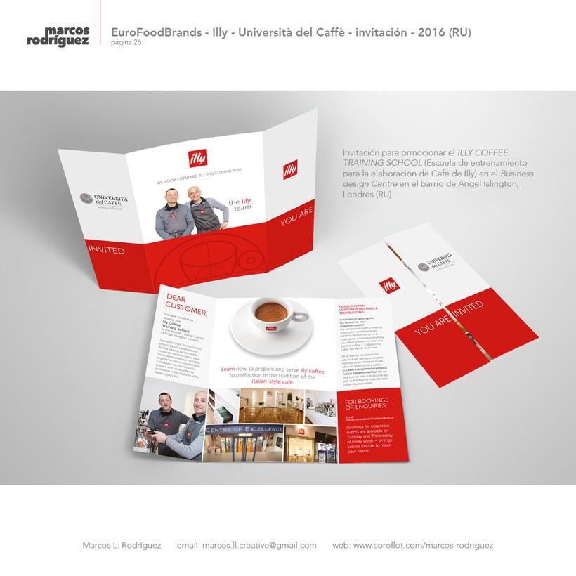 EuroFoodBrands - Illy - Università del Caffè - invitación - 2016 (Reino Unido) 1