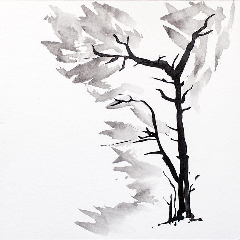 algunos árboles para un libro ilustrado de poesía 4