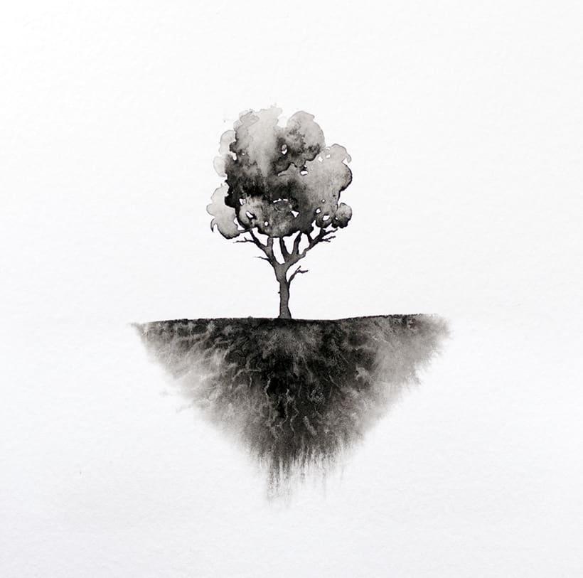 algunos árboles para un libro ilustrado de poesía 1