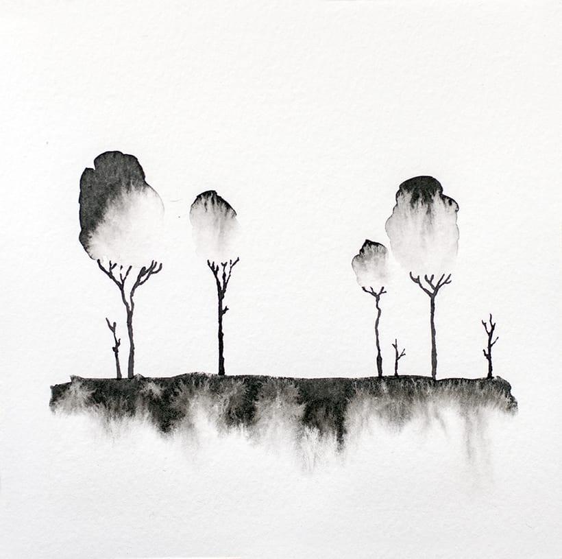 algunos árboles para un libro ilustrado de poesía 0