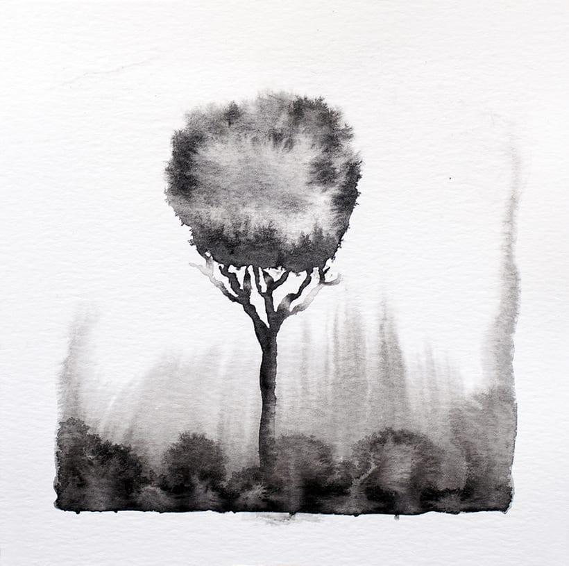 algunos árboles para un libro ilustrado de poesía 3