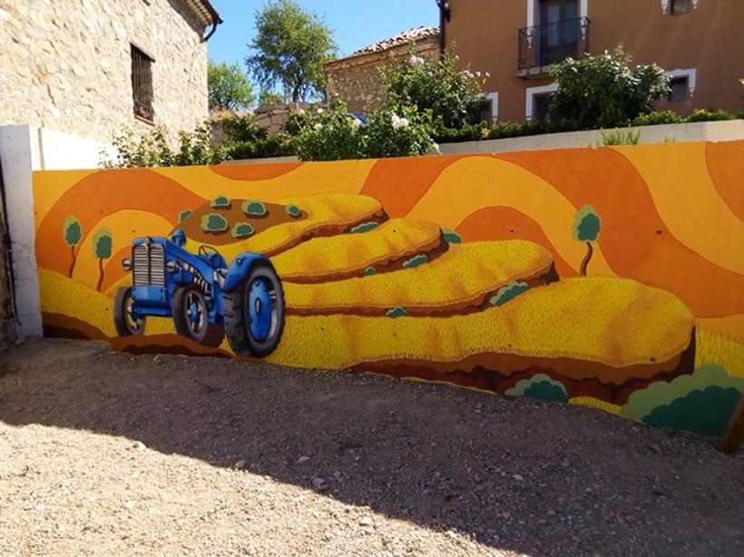 Mural en Bañon con leyenda local 4