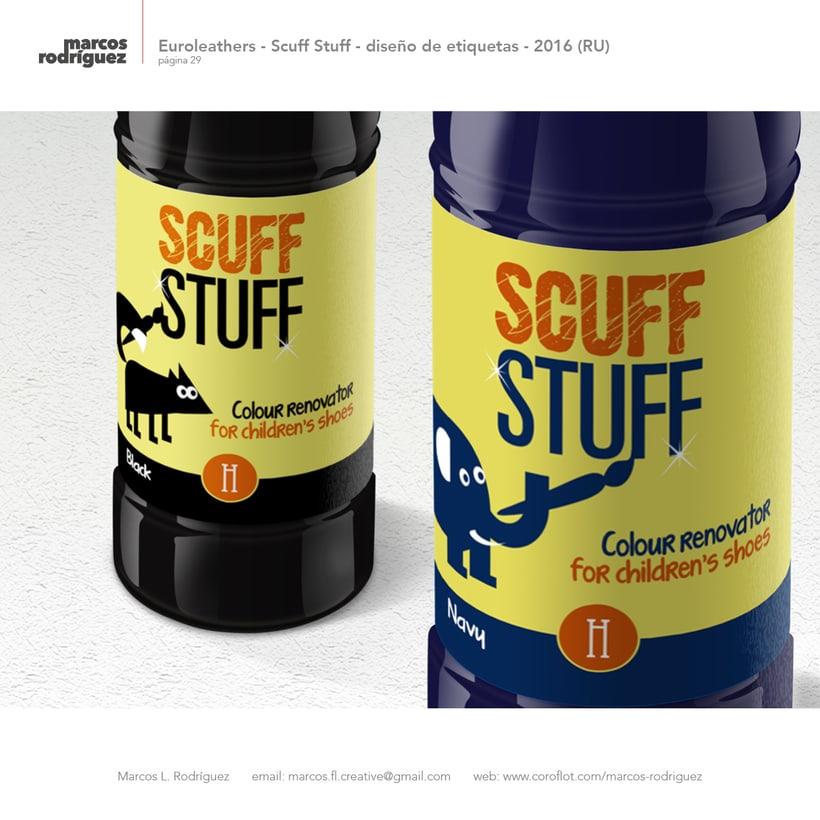 Euroleathers - Scuff Stuff - diseño de etiquetas - 2016 (Reino Unido) 2