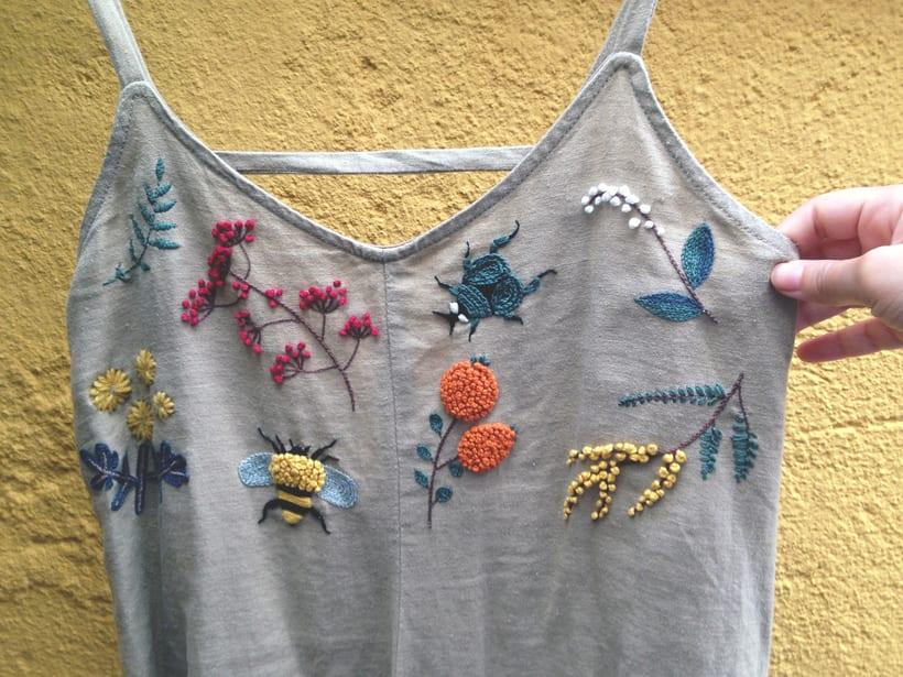Mi Proyecto del curso: Vestido con elementos naturales 2