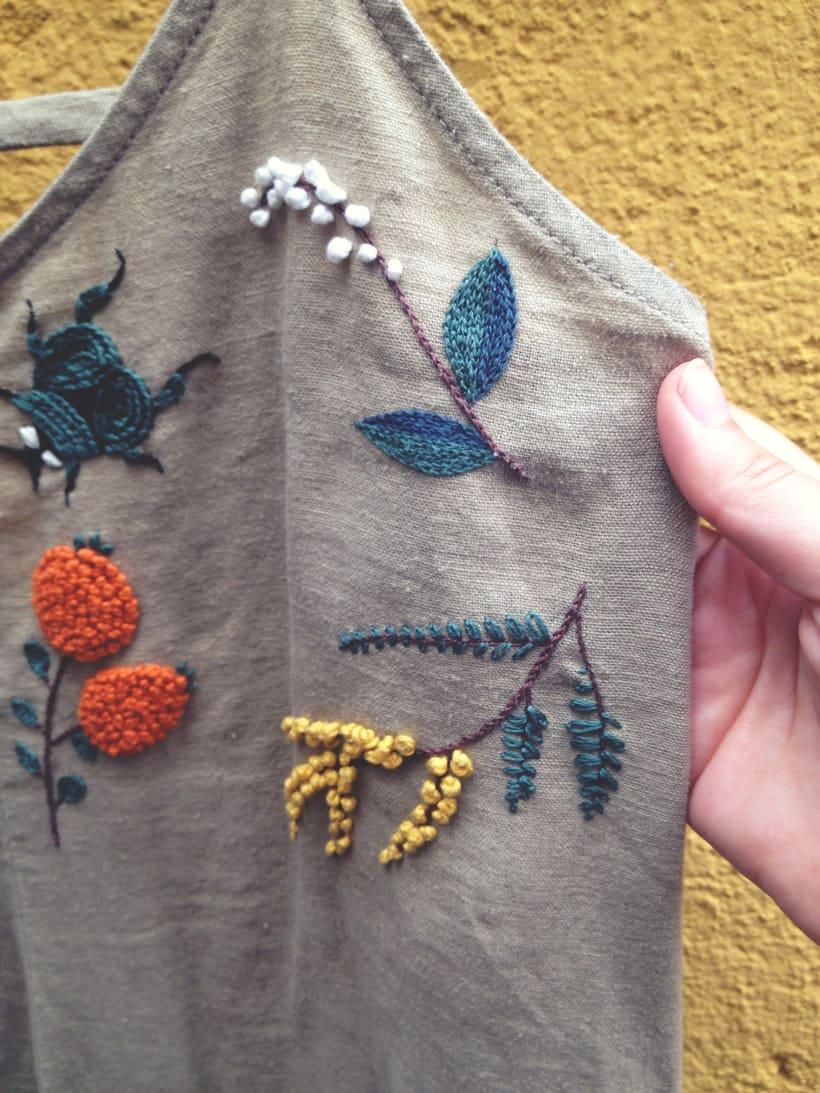 Mi Proyecto del curso: Vestido con elementos naturales 4