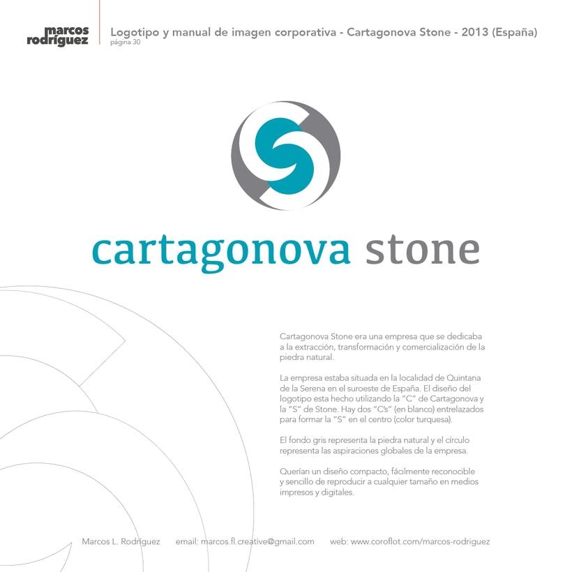 Logotipo y manual de imagen corporativa - Cartagonova Stone - 2013 (España) 1