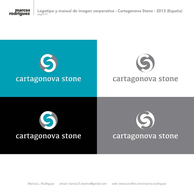 Logotipo y manual de imagen corporativa - Cartagonova Stone - 2013 (España) 2