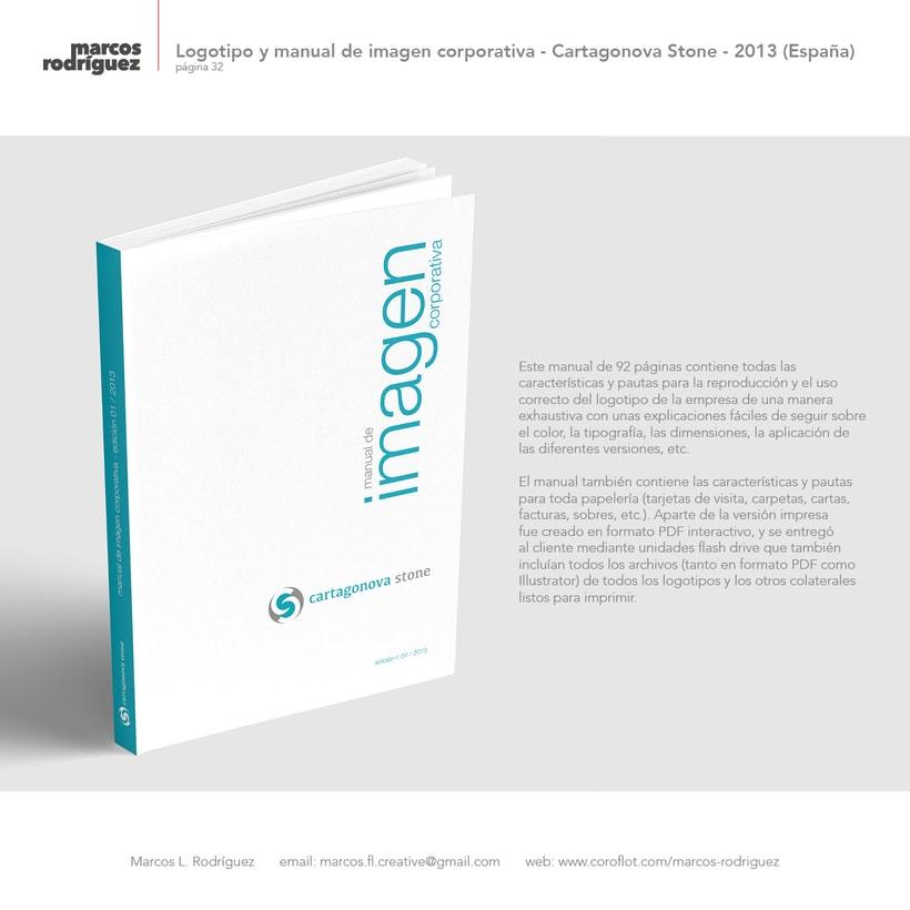 Logotipo y manual de imagen corporativa - Cartagonova Stone - 2013 (España) 3