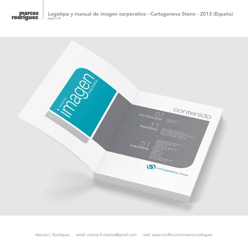 Logotipo y manual de imagen corporativa - Cartagonova Stone - 2013 (España) 4