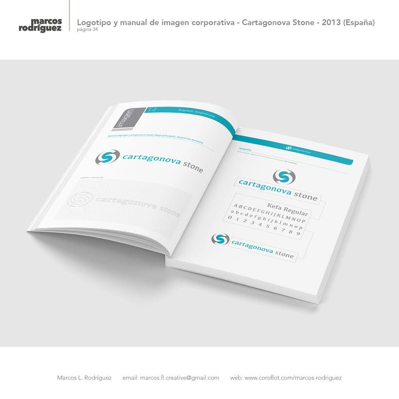 Logotipo y manual de imagen corporativa - Cartagonova Stone - 2013 (España) 5