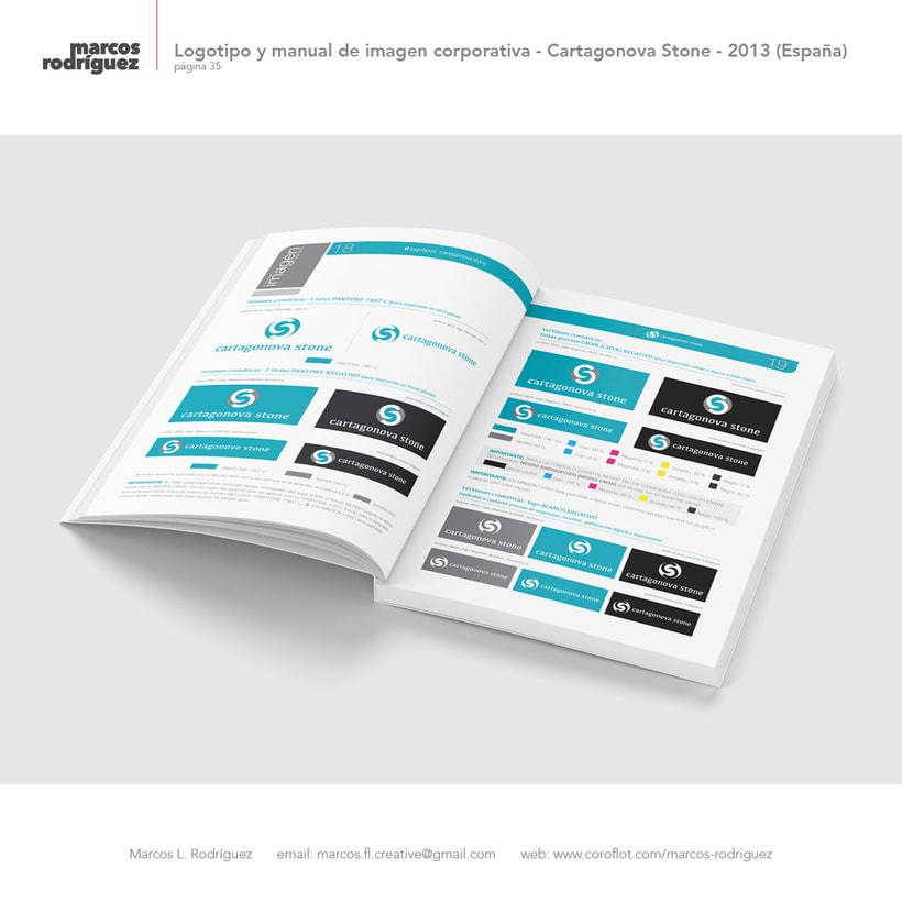 Logotipo y manual de imagen corporativa - Cartagonova Stone - 2013 (España) 6