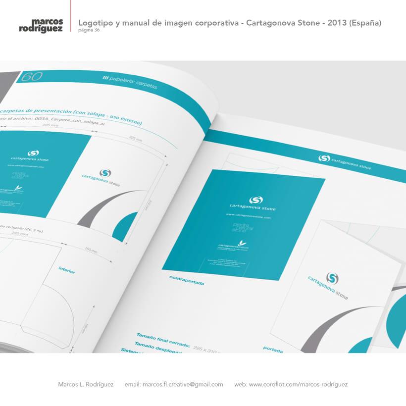 Logotipo y manual de imagen corporativa - Cartagonova Stone - 2013 (España) 7
