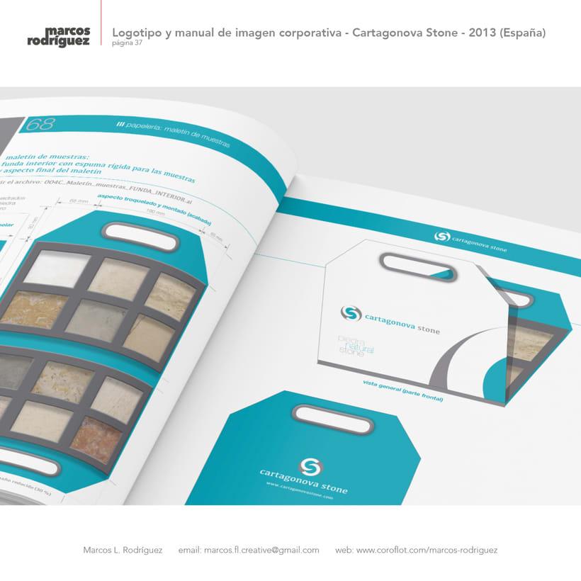 Logotipo y manual de imagen corporativa - Cartagonova Stone - 2013 (España) 8