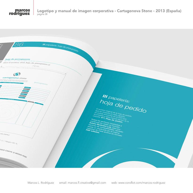 Logotipo y manual de imagen corporativa - Cartagonova Stone - 2013 (España) 9