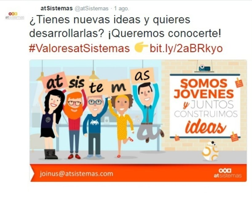 Campaña Twitter Ads valores de empresa 5