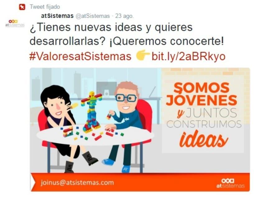 Campaña Twitter Ads valores de empresa 6