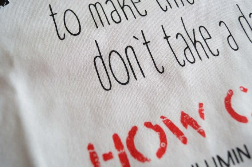 Serigrafía de papel y textil ONELOVE 6