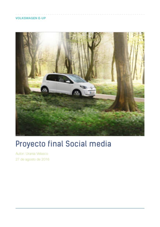 Mi Proyecto del curso: Introducción al Social Media 0