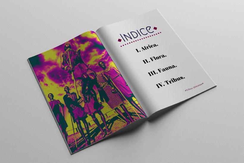 Diseño Editorial Tribus Africanas. 1