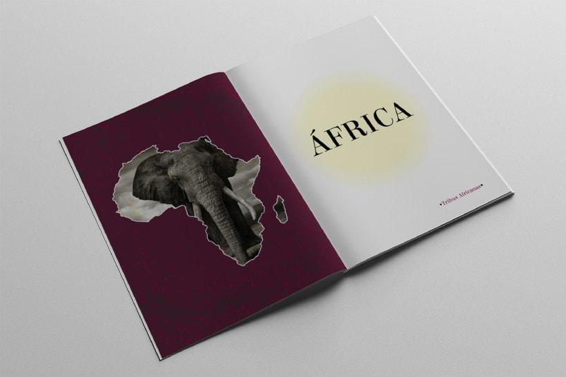 Diseño Editorial Tribus Africanas. 2