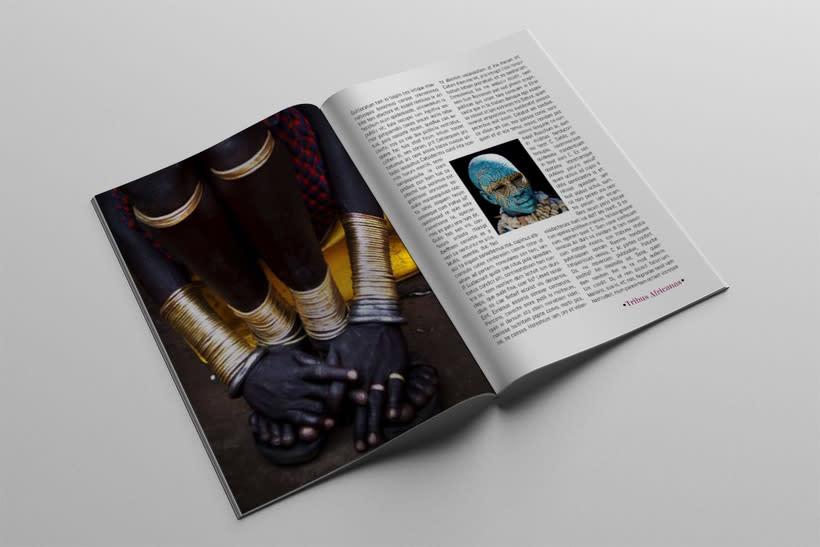 Diseño Editorial Tribus Africanas. 3
