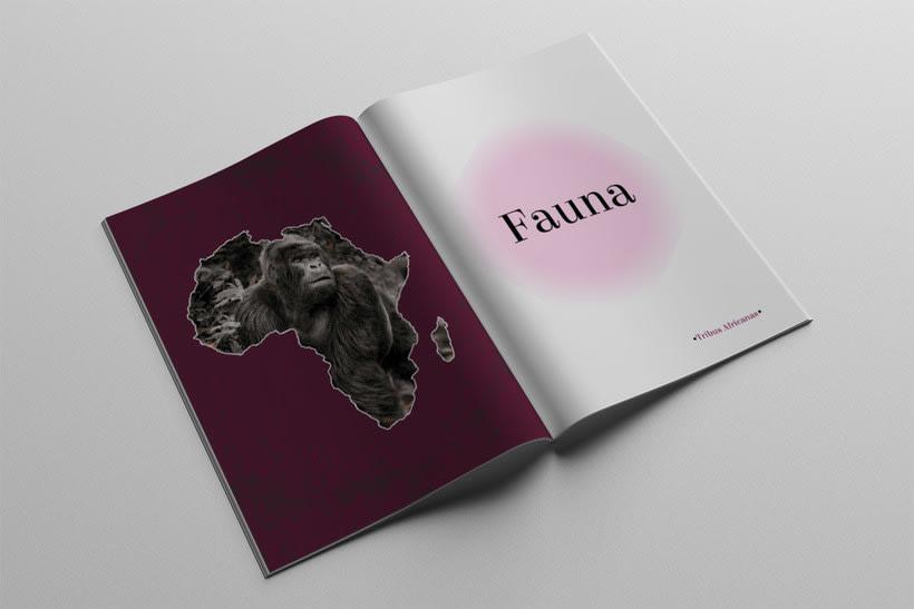 Diseño Editorial Tribus Africanas. 6