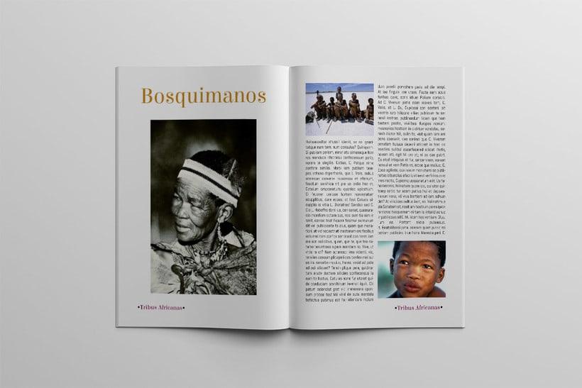 Diseño Editorial Tribus Africanas. 12