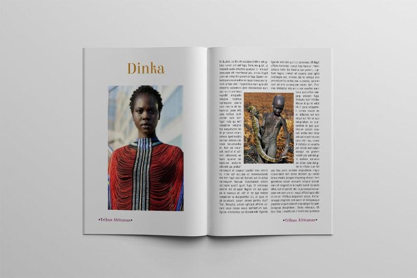 Diseño Editorial Tribus Africanas. 14