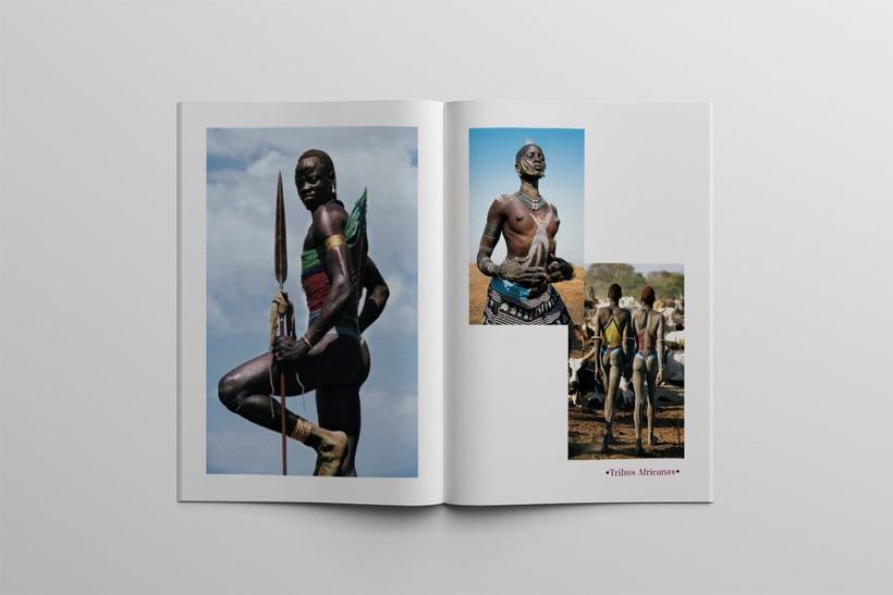Diseño Editorial Tribus Africanas. 15
